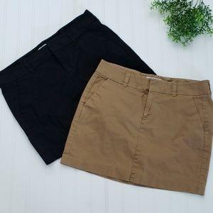 Old Navy Black Khaki Office Skirt sz 6
